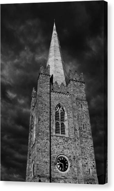 Clock Tower - St. Patrick's Cathedral - Dublin Canvas Print