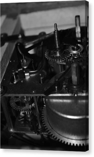 Clocks Black And White Canvas Print