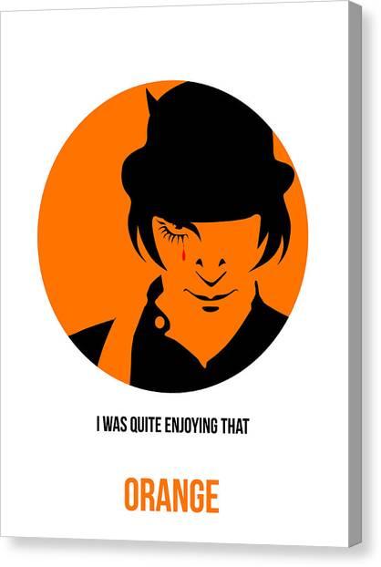 Clockwork Orange Canvas Print - Clockwork Orange Poster 1 by Naxart Studio