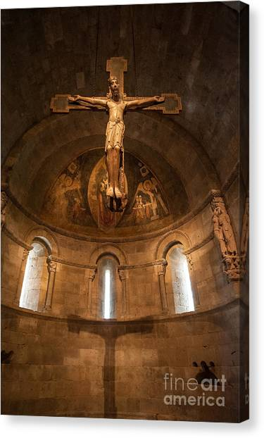 Cloisters Crucifixion Canvas Print