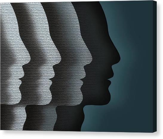 Genetics Canvas Print - Cloned Faces by Robert Brook