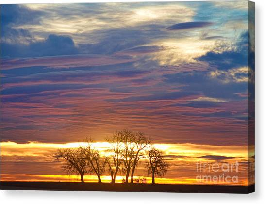 Sunset Horizon Canvas Print - Close Encounters 2 by James BO  Insogna