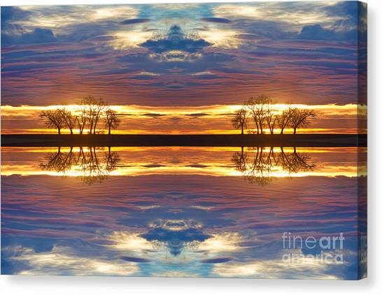 Sunset Horizon Canvas Print - Close Encounters Four by James BO  Insogna
