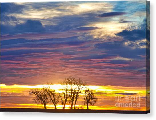 Sunset Horizon Canvas Print - Close Encounters by James BO  Insogna