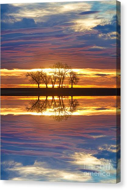 Sunset Horizon Canvas Print - Close Encounters Two by James BO  Insogna