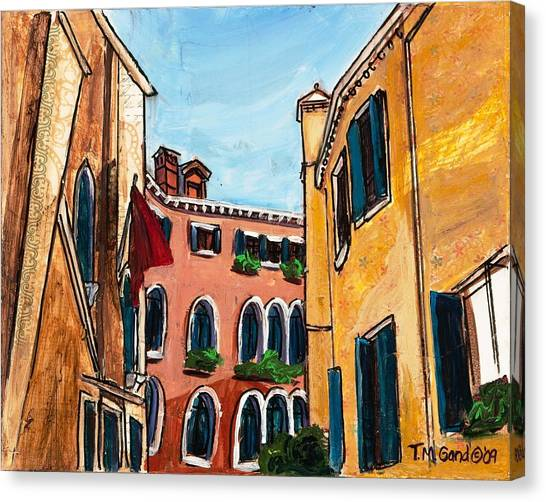 Canvas Print featuring the painting Close Quarters by TM Gand