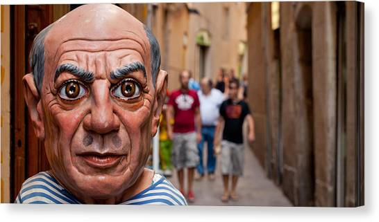 Pablo Picasso Canvas Print - Close-up Of A Sculpture Of Pablo by Panoramic Images