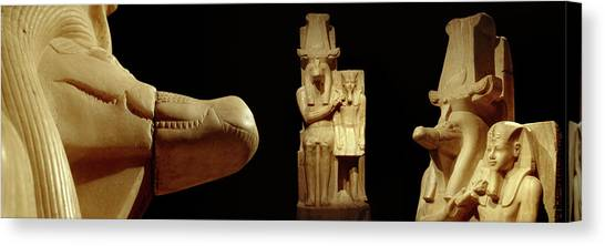 Egyptian Art Canvas Print - Close-up Of Calcite Statues by Panoramic Images