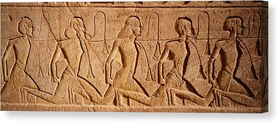 Egyptian Art Canvas Print - Close-up Of Carvings On A Wall, Great by Panoramic Images