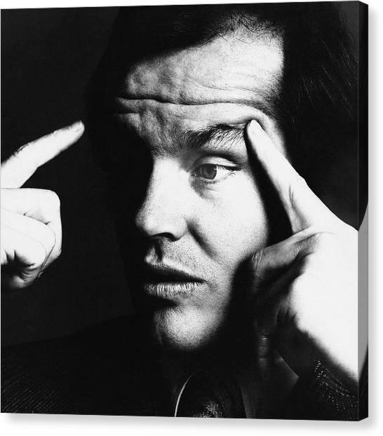 Jack Nicholson Canvas Print - Close Up Of Jack Nicholson by Jack Robinson