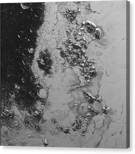 Pluto Canvas Print - Close-up Of Pluto by Nasa/jhuapl/swri