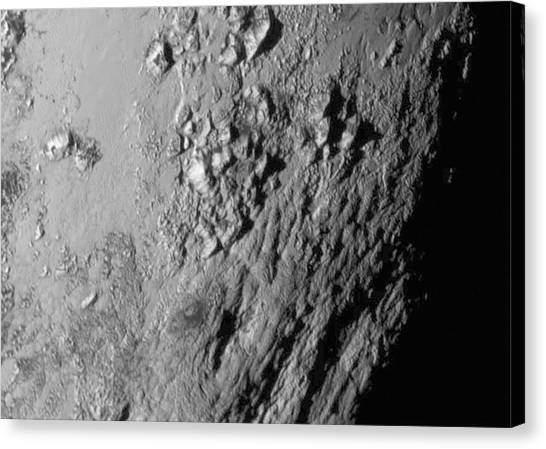Pluto Canvas Print - Close-up Of Pluto by Nasa/johns Hopkins University Applied Physics Laboratory/southwest Research Institute