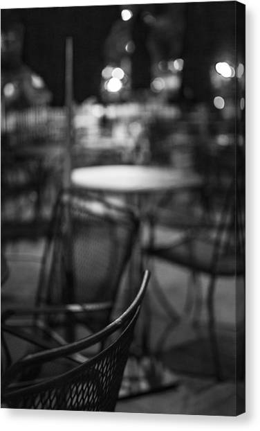 Closed Dining Canvas Print by Michael Williams