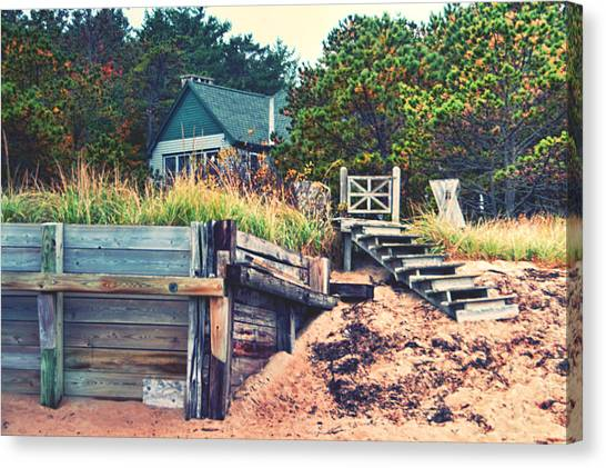 Canvas Print featuring the photograph Closed For The Season Revisited Color by Jeremy McKay