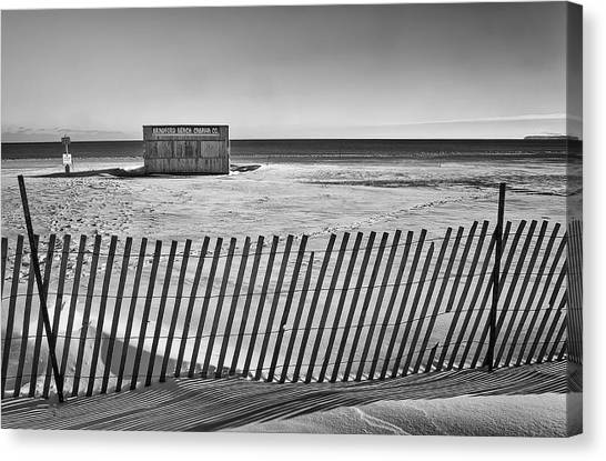 Lake Michigan Canvas Print - Closed For The Season by Scott Norris