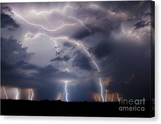 Clothed In Power Canvas Print