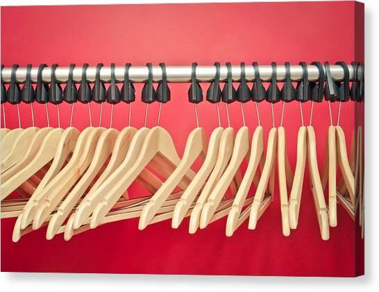 Coat Hanger Canvas Print - Clothes Hangers by Tom Gowanlock