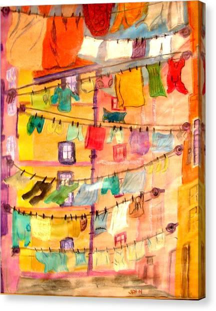 Clothes Line Canvas Print