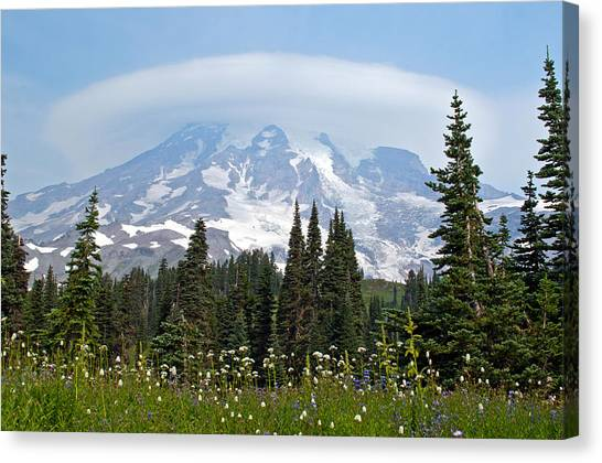 Cloud Capped Rainier Canvas Print