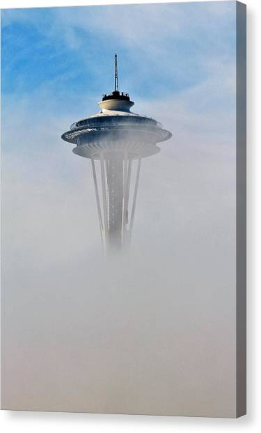 Space Needle Canvas Print - Cloud City Needle by Benjamin Yeager