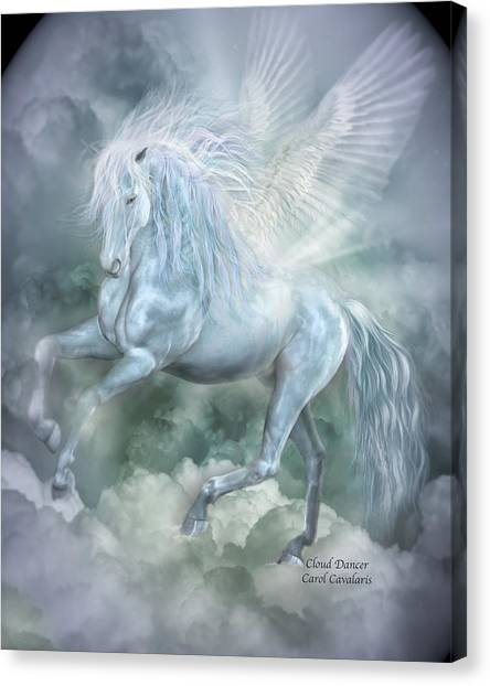 Pegasus Canvas Print - Cloud Dancer by Carol Cavalaris