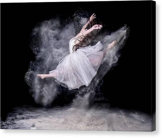 Jump Canvas Print - Cloud Dancer by Pauline Pentony Ma