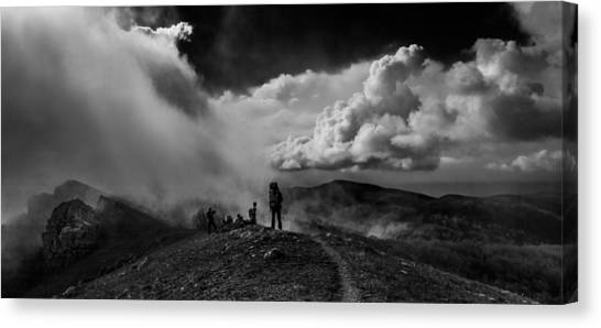 Cloud Factory Bw Canvas Print