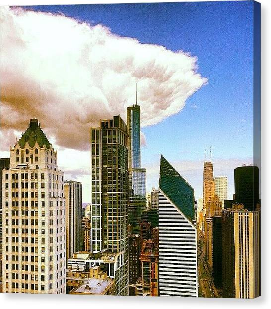 Weather Canvas Print - Cloud Front Rolling In by Jill Tuinier