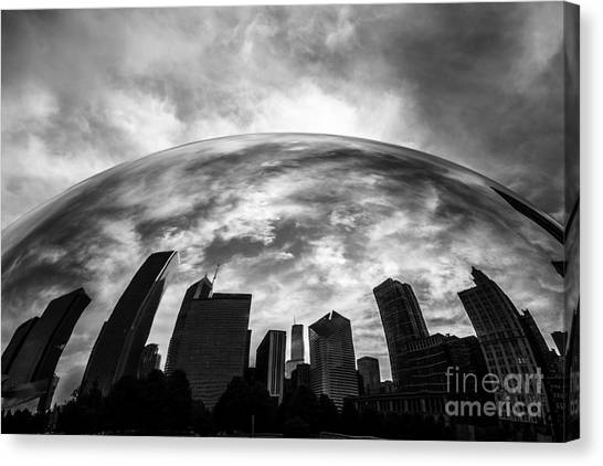 Skylines Canvas Print - Cloud Gate Chicago Bean by Paul Velgos