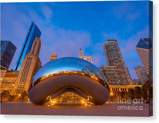 Cloudgate Canvas Print - Cloud Gate Number 1 by Inge Johnsson