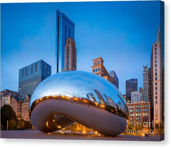 Cloudgate Canvas Print - Cloud Gate Number 2 by Inge Johnsson
