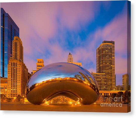 Cloudgate Canvas Print - Cloud Gate Number 4 by Inge Johnsson