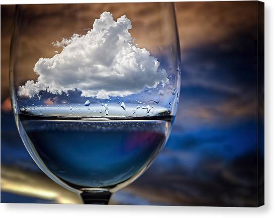 Drops Canvas Print - Cloud In A Glass by Chechi Peinado