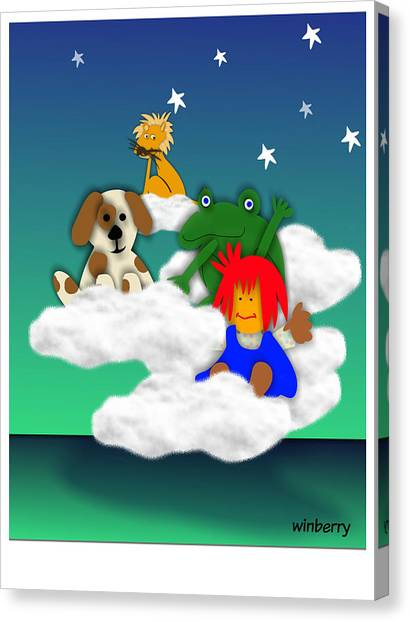 Cloud Kids Canvas Print by Bob Winberry