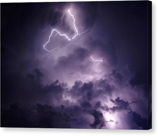 Cloud Lightning Canvas Print