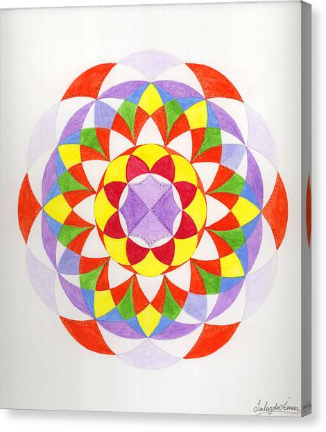 Cloud Mandala Canvas Print by Silvia Justo Fernandez