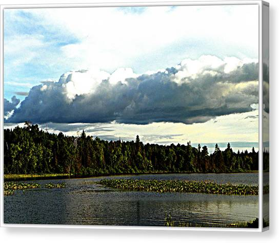 Cloud Over Lake Tomiko Canvas Print by Dianne  Lacourciere