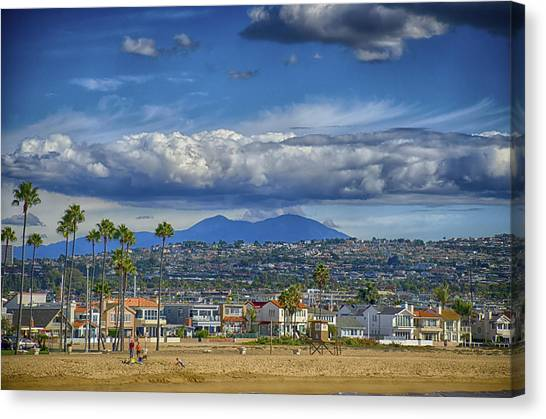 Cloud Over Saddleback Mountain Canvas Print