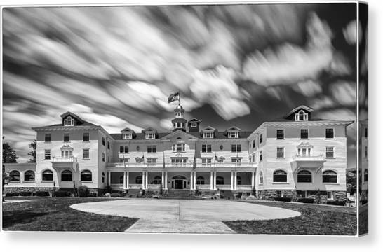 Cloud Painting At The Stanley Hotel Canvas Print