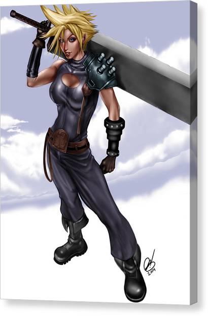 Final Fantasy Canvas Print - Cloud by Pete Tapang