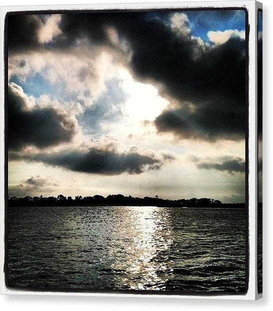 Marshes Canvas Print - Cloud Puzzle #bhi #baldheadisland by M Wilson