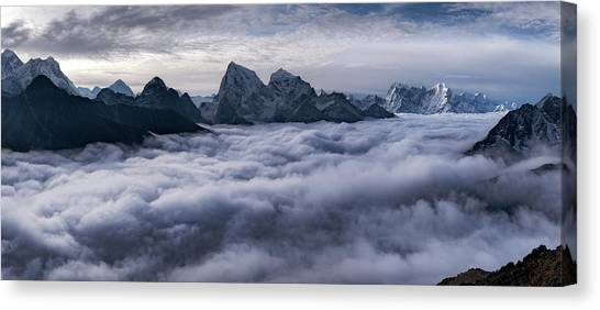 Himalayas Canvas Print - Cloud River by Alexey Kharitonov