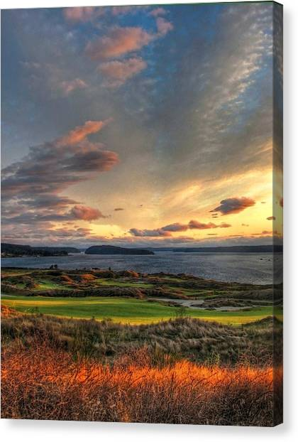 Cloud Serenity - Chambers Bay Golf Course Canvas Print