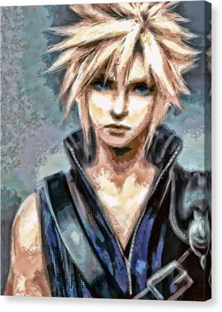 Final Fantasy Canvas Print - Cloud Strife by Joe Misrasi