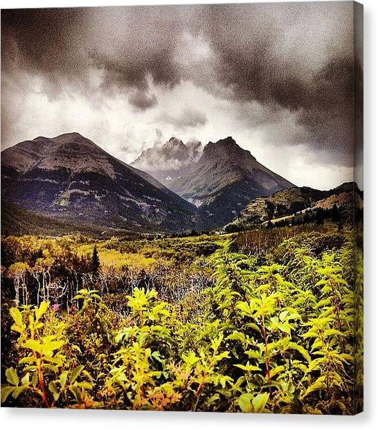 Rocky Mountains Canvas Print - Cloud Summit by Rachel Waters