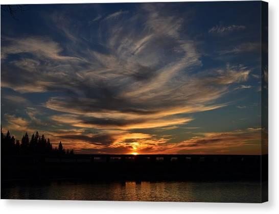 Cloud Swirl Sunset Canvas Print