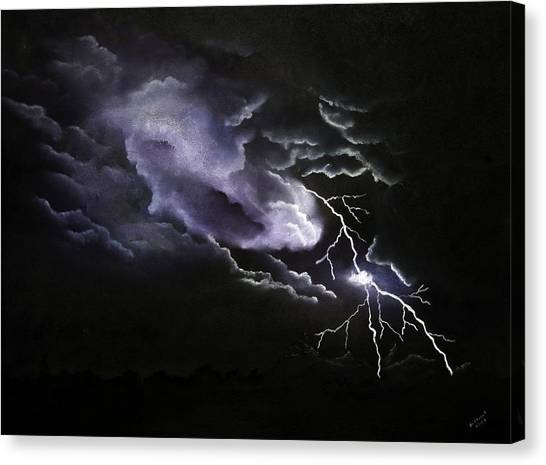 Cloud To Ground Canvas Print