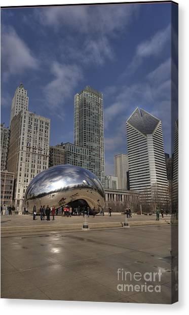 Cloudgate Canvas Print - Cloudgate --the Bean by David Bearden