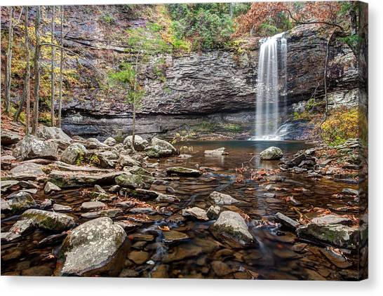 Cloudland Canyon Falls Canvas Print by Scott Moore
