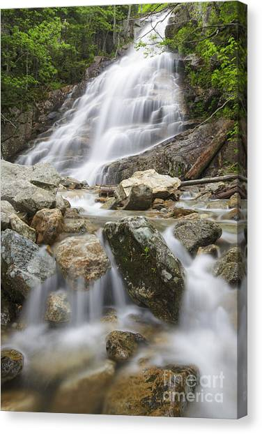 Cloudland Falls - Franconia Notch State Park New Hampshire Usa Canvas Print